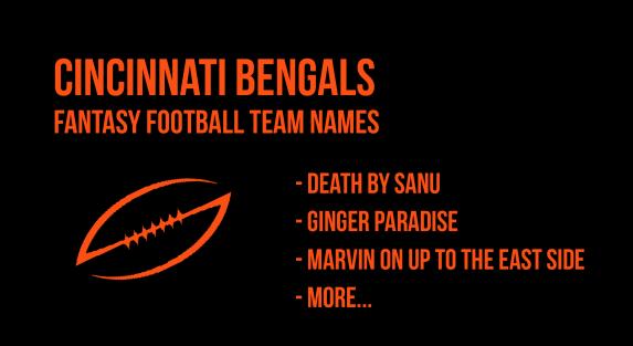 2018 Cincinnati Bengals Fantasy Football Team Names