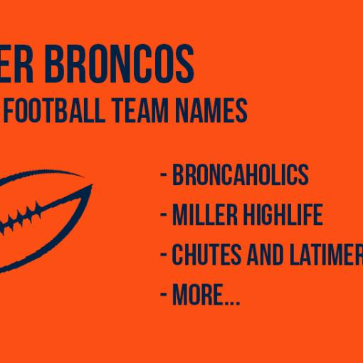 2018 Denver Broncos Fantasy Football Names