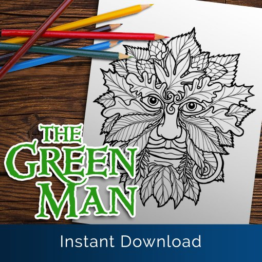 Green Man Downloadable Colouring Page