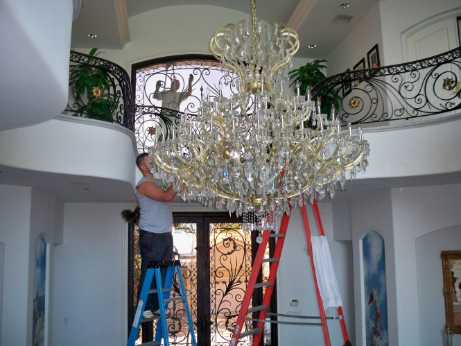 Chandelier Cleaning Washing