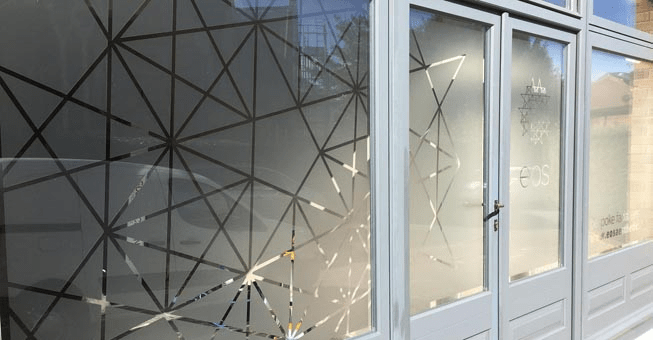 how do you cover glass doors for