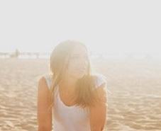 girl in damaging sun