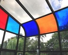 transparent coloured window film