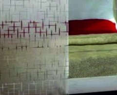 cross lines etched privacy window film