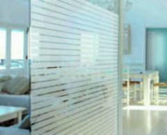 striped etched privacy window film