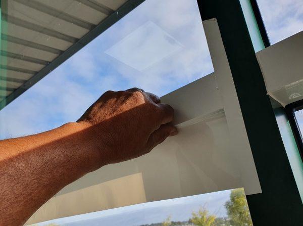 Window frame vinyl wrap