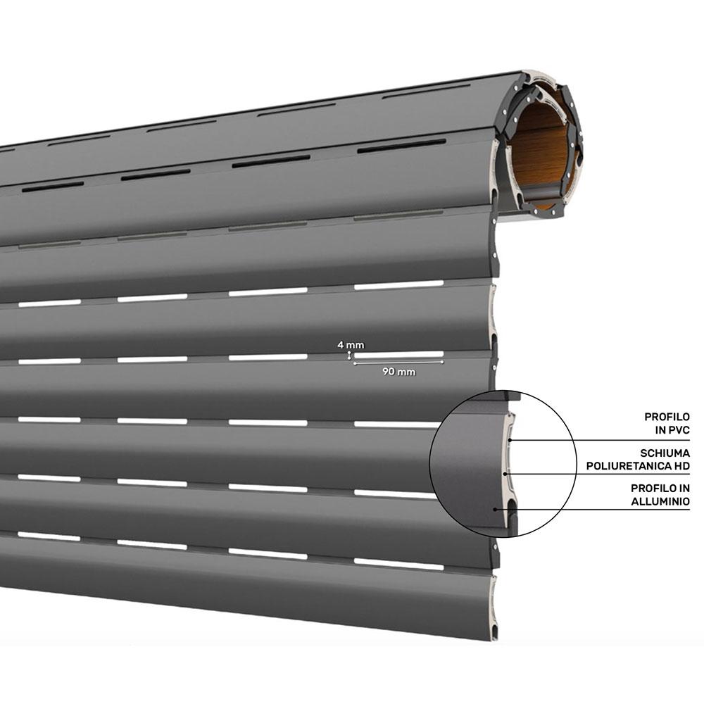 Tapparelle in alluminio coibentato, avvolgibili in alluminio su misura a basse e alta densità. Tapparella Arialucetherm In Pvc E Alluminio Coibentato Windowo