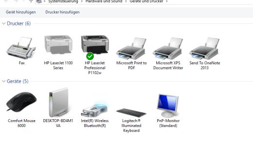 Drucker unter Windows 10