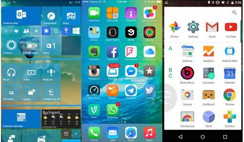 Windows 10 und Apple iOS