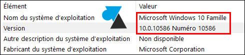 tutoriel Windows 10 Famille informations syteme