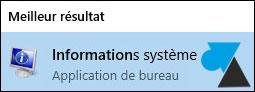 w10 informations systeme - Quelle version du système d'exploitation Windows de mon ordinateur