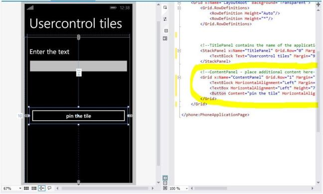 How to Create a Custom tile layout with the help of Usercontrol as