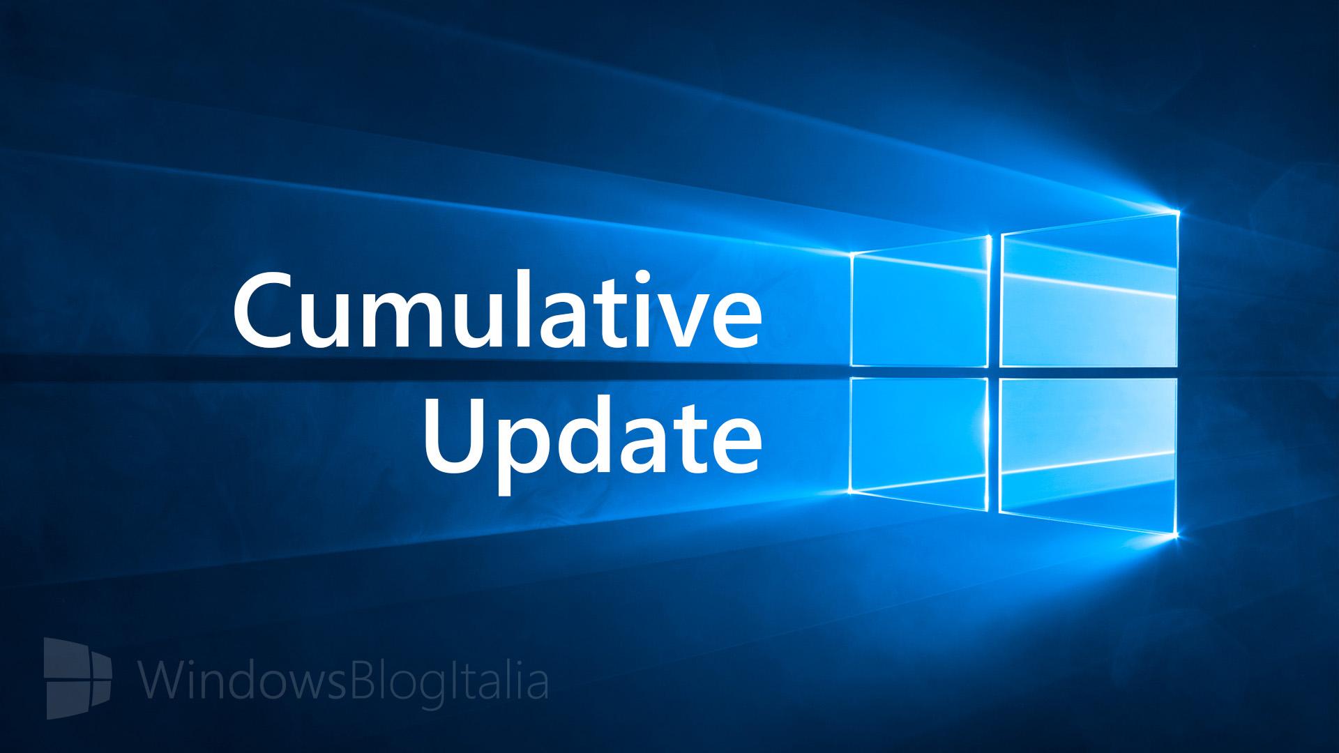 Aggiornamento cumulativo - Windows 10 - PC e tablet