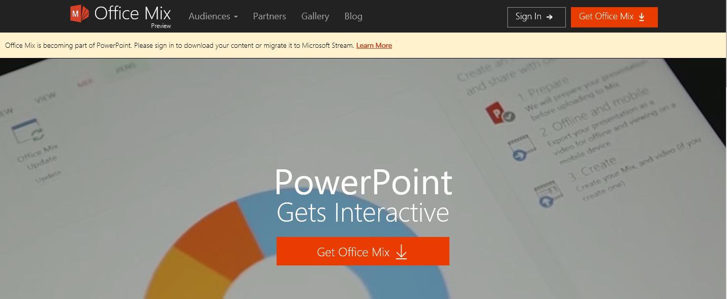 Office mix abbandonato da Microsoft