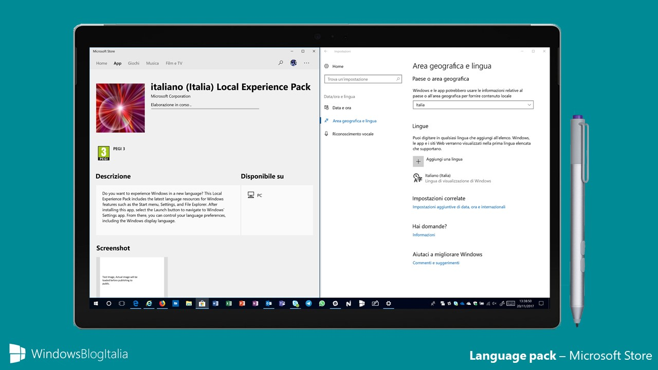 Language pack Microsoft Store