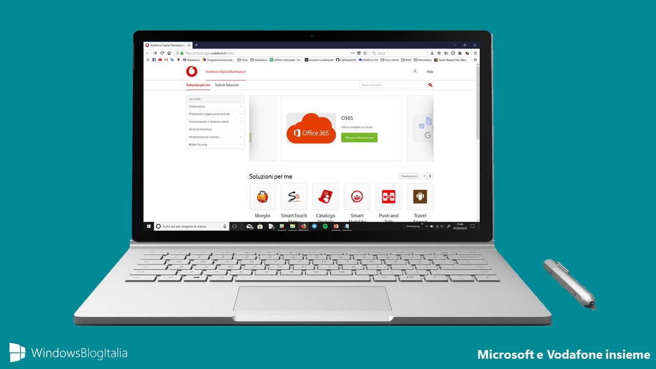 Microsoft e Vodafone insieme per le piccole e medie imprese