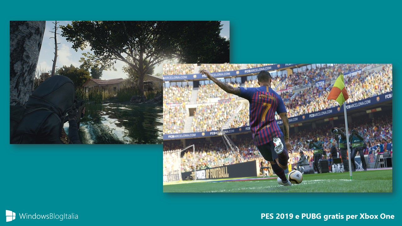 Download PES 2019 E PUBG Gratis Per Poco Tempo Su Xbox One