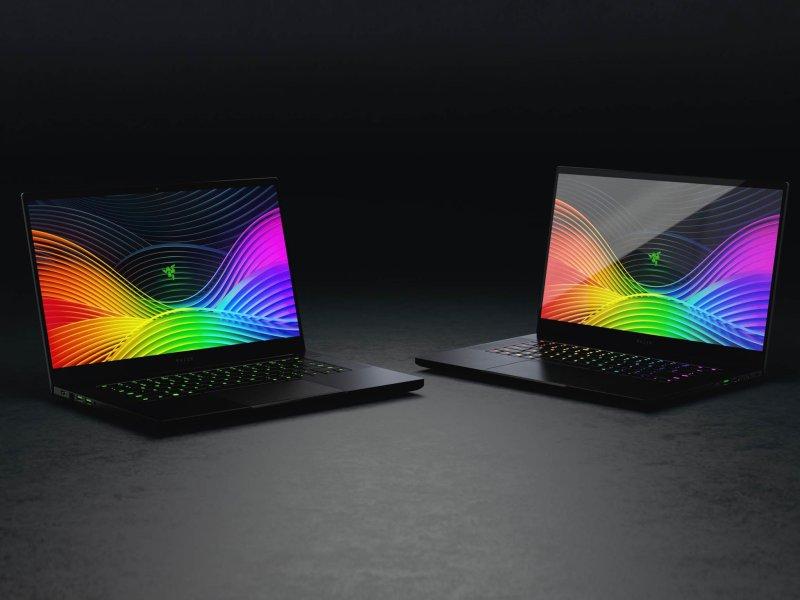 A pair of Razer Blade 15 laptops.