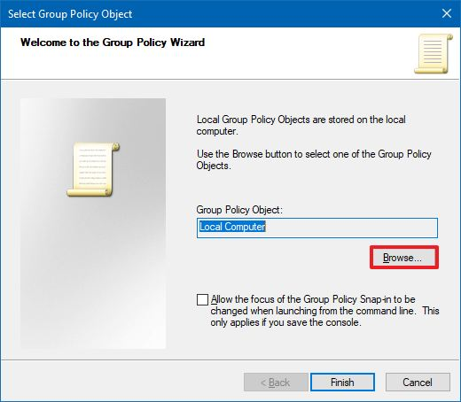 Select Group Policy Object