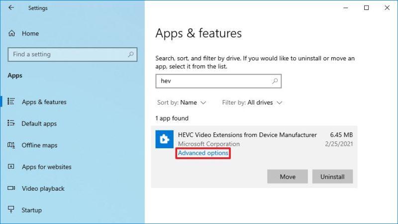 HEVC image codec advanced options