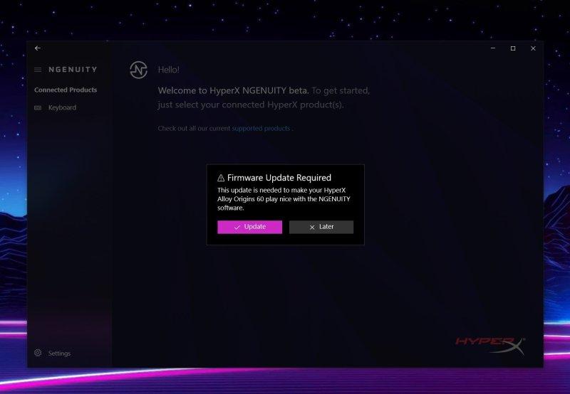 Hyper X Alloy Origins 60 Firmware