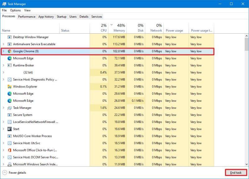 Windows 10 app high memory usage