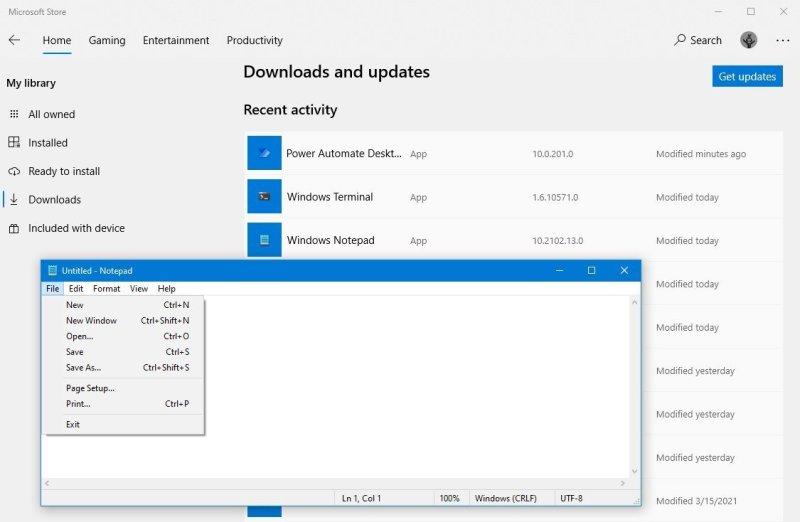 Microsoft Store Notepad