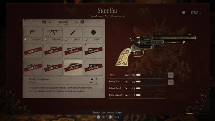 Resident Evil Village M1851 Upgrades