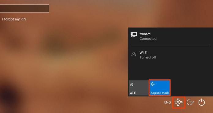 Enable Airplane mode via Lock  screen