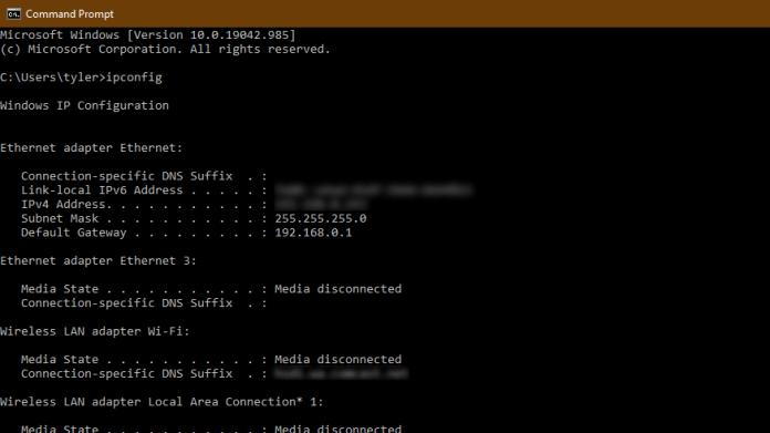 Router Ip Command Prompt Defaultgateway
