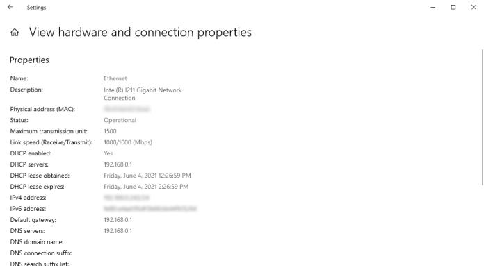Windows 10 Settings Network Status Defaultgateway