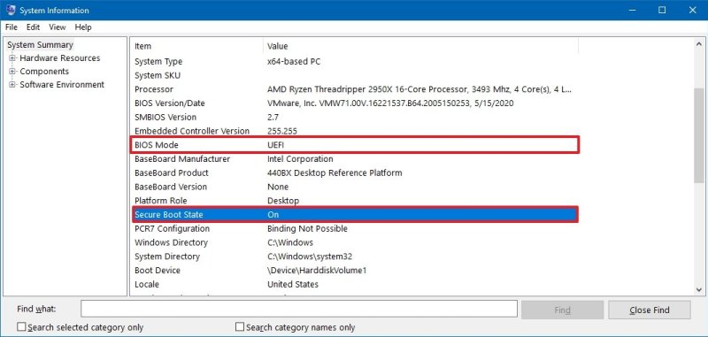 Check Secure Boot on Windows 10