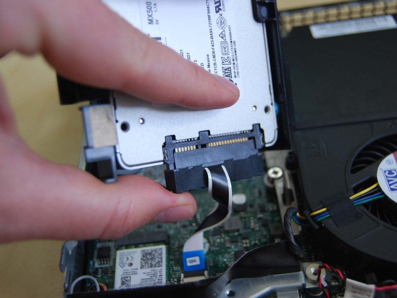 Plug in the SATA connector.