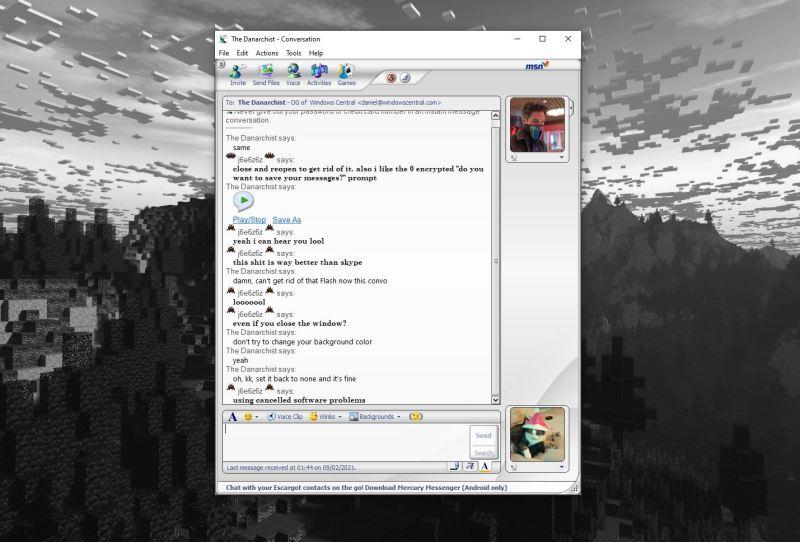 Msn Messenger Chat Window