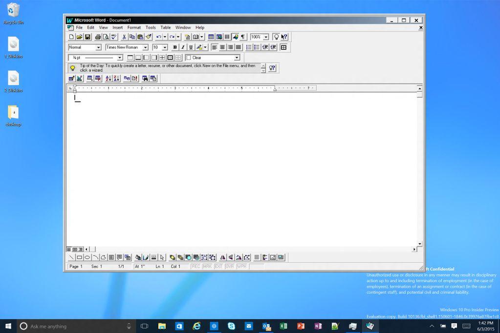 Windows 10 Word 95