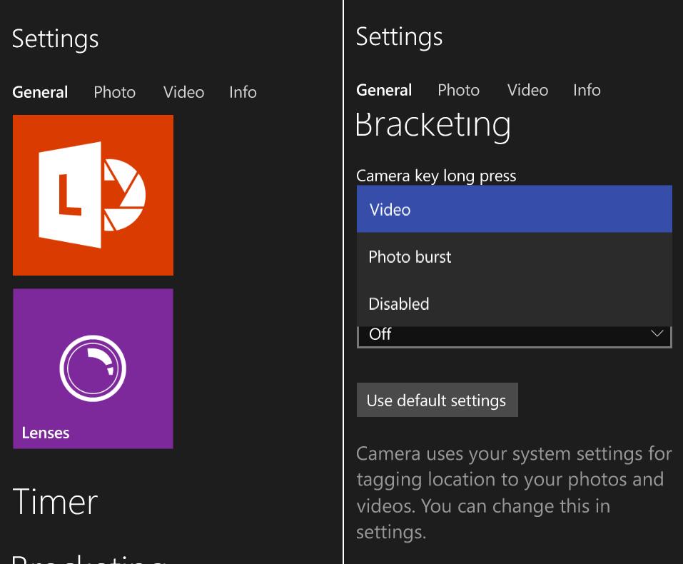 The Camera app in Windows 10 borrows a lot from Lumia ...