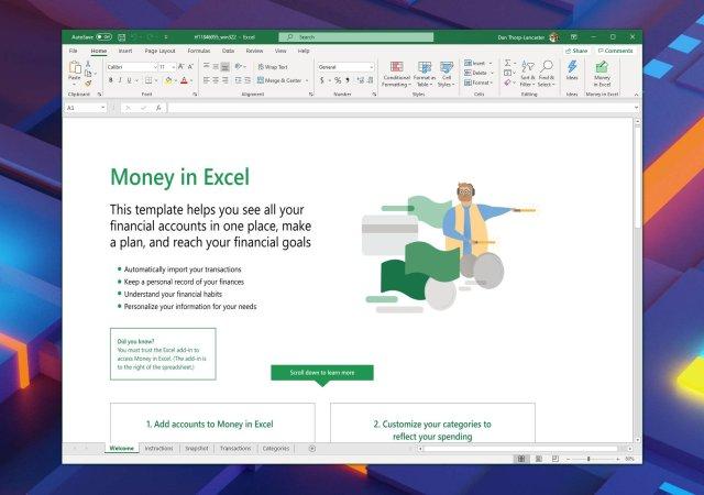 Penger i Excel er nå tilgjengelig, hjelper deg med å administrere økonomien