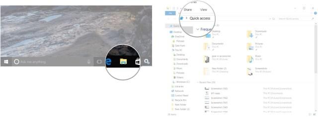 Launch File Explorer. Click the address bar.