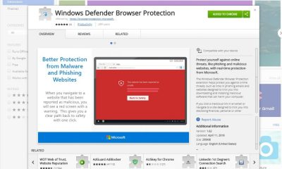 Windows defender pre google chorme