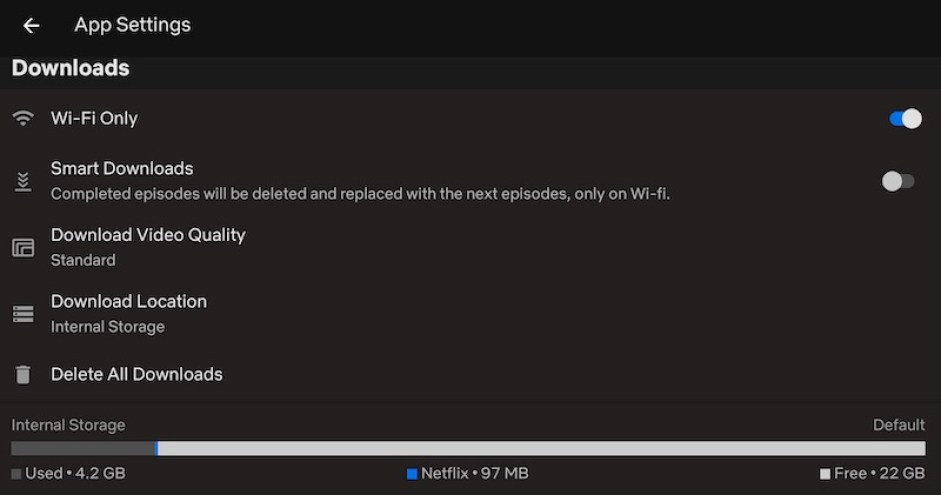 Netflix Video İndirme  Kalitesi