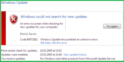 Windows Update Error 80072ee2 | Windows Update 80072ee2 | Error 80072ee2 | 80072ee2 Windows Update