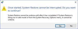 Windows 10 restore point