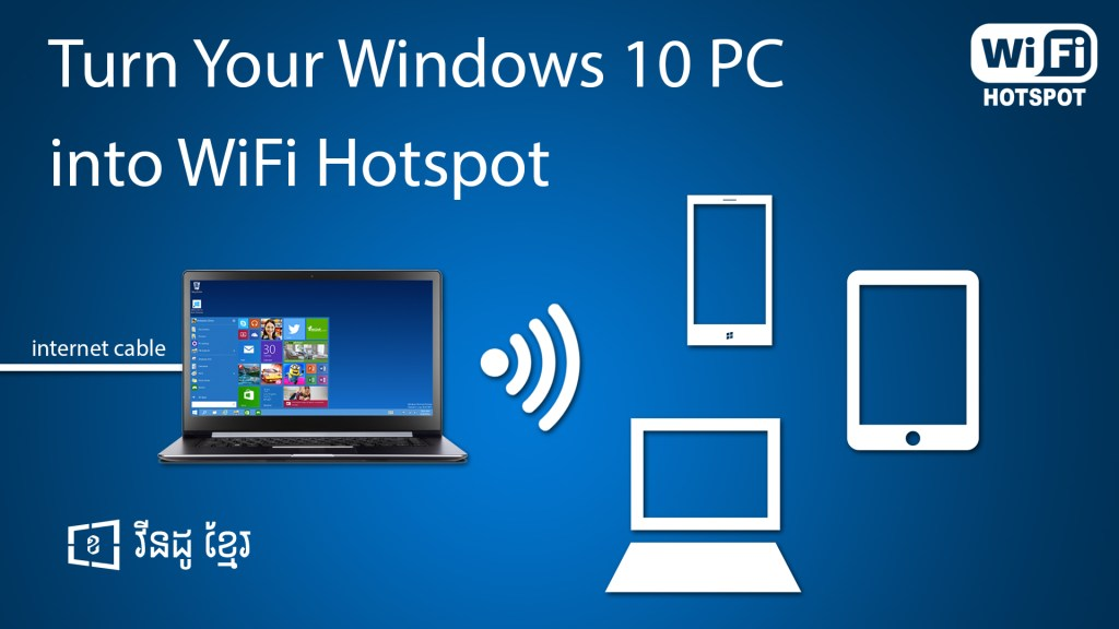 How to Create WiFi Hotspot on Windows 10 Without Softwares