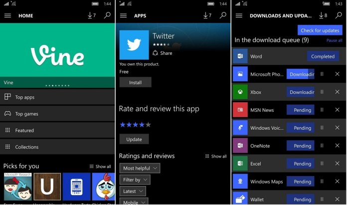 s Store for Windows 10 Mobile