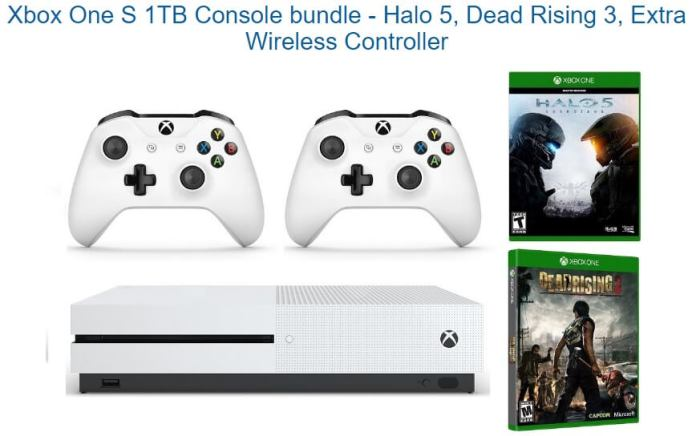 Deal: Xbox One S 1TB with Halo 5, Dead Rising 3 and Extra ...