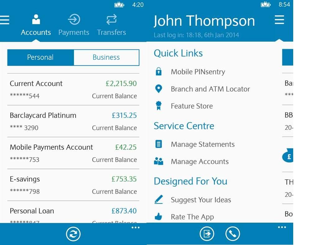 Barclays mobile banking app error
