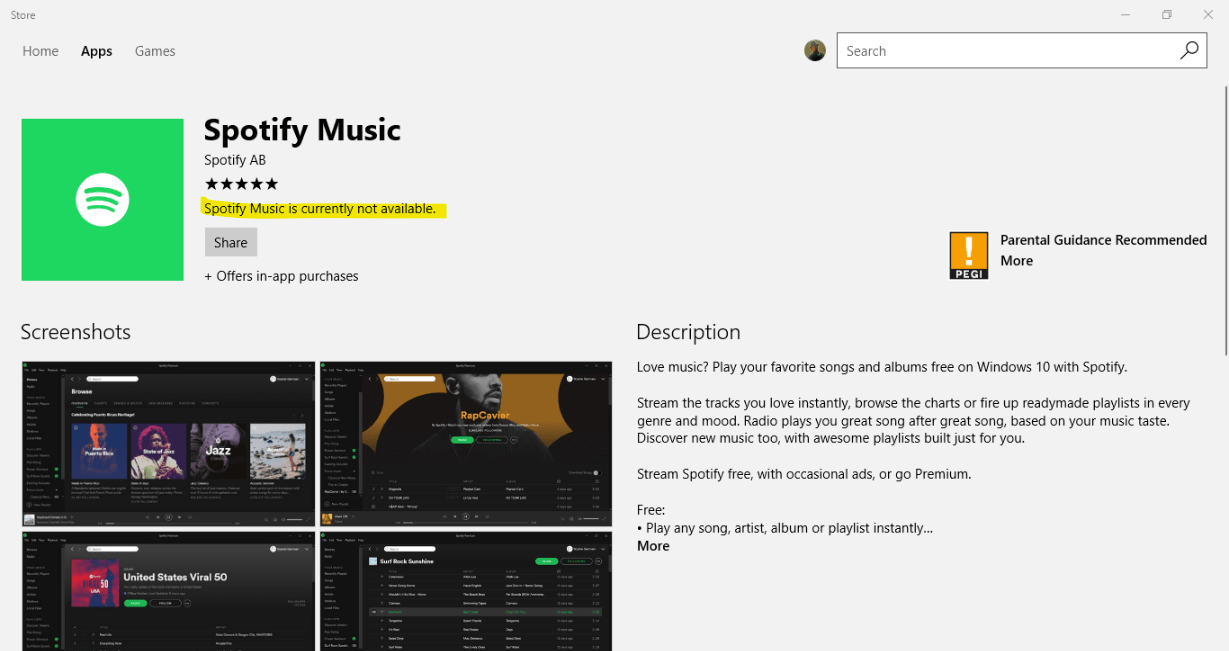 Spotify officially arrives on the Windows Store