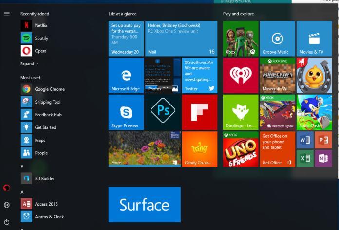 Windows 10 Start