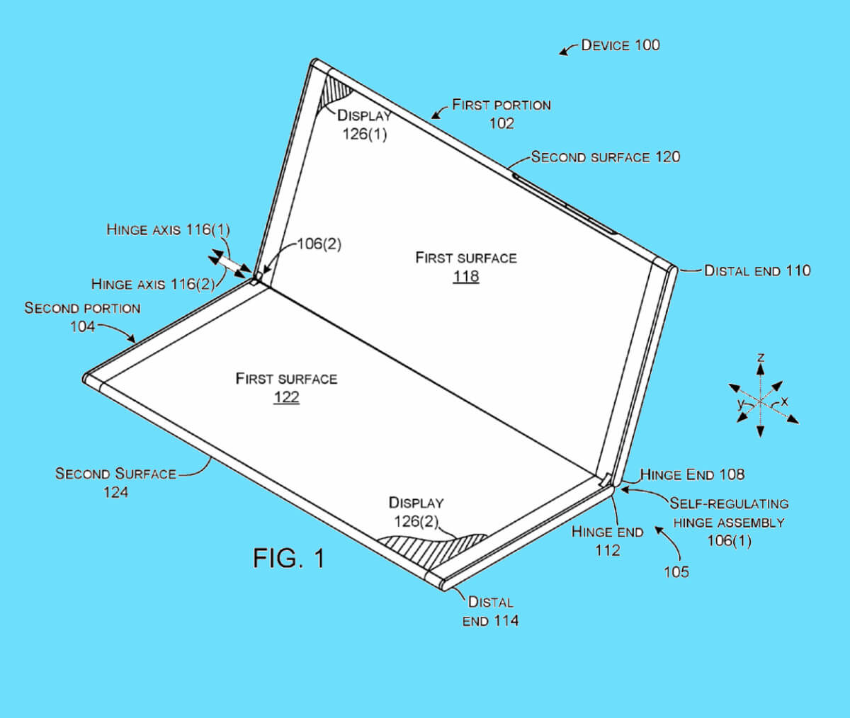 New Microsoft patent shows off special hinge for foldable device