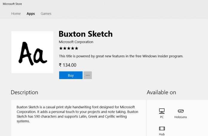 Buxton Sketch font